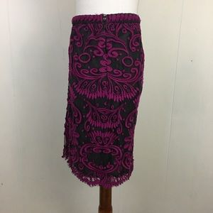 Anthropologie Skirts - Anthro Joana Baraschi Orchid Lace Pencil Skirt